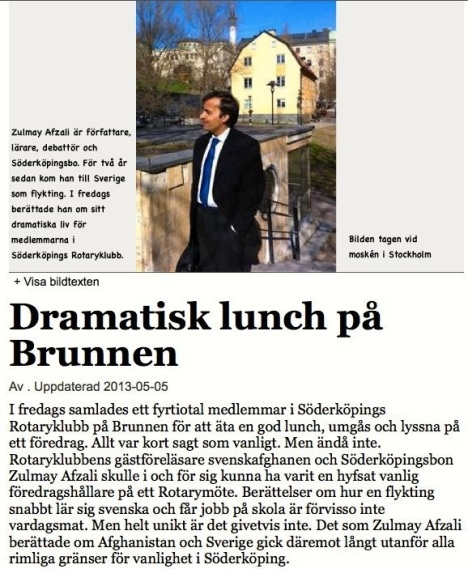 Dramatisk lunch på Brunnen FB 5.5 2013
