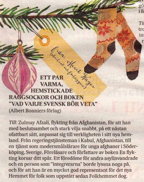 Julklapp Zulmay SvD ledarsida julafton 2013