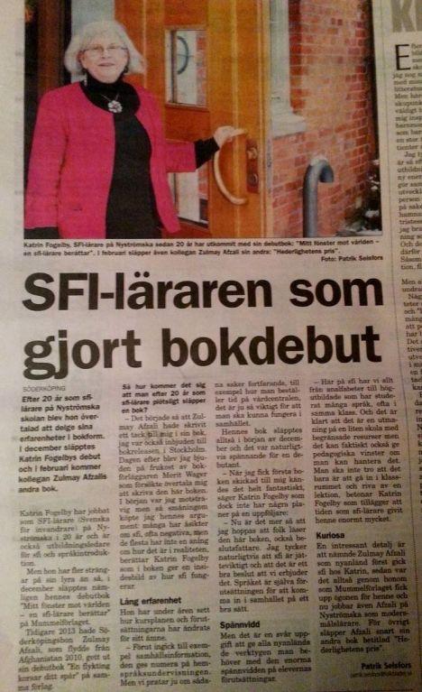 Folkbladet 18.1 2014 Katrin Fogelby