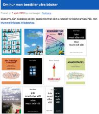 Bild av beställning av böcker