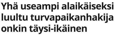 Yhä useampi alaikäiseksi Kaleva 14.4 2016