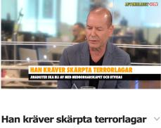Han kräver skärpta terrorlagar Stefan AB TV 16.6 2017