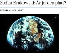 Stefan Krakowski Är jorden platt? SvD 1.6 2017